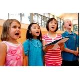 Aula de canto valores na Vila Maria