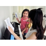 escola de piano para crianças Vila Maria
