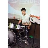 Escola para aula de bateria onde localizar em Santana