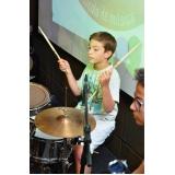 Escola para aula de bateria onde tem na Vila Gustavo